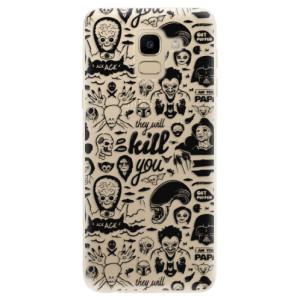 Silikonové odolné pouzdro iSaprio - Comics 01 - black na mobil Samsung Galaxy J6