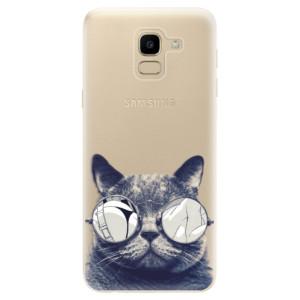 Silikonové odolné pouzdro iSaprio - Crazy Cat 01 na mobil Samsung Galaxy J6