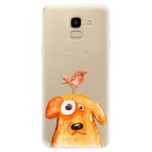 Silikonové odolné pouzdro iSaprio - Dog And Bird na mobil Samsung Galaxy J6