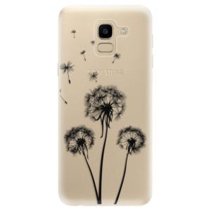 Silikonové odolné pouzdro iSaprio - Three Dandelions - black na mobil Samsung Galaxy J6