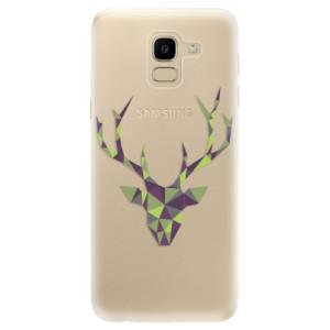 Silikonové odolné pouzdro iSaprio - Deer Green na mobil Samsung Galaxy J6