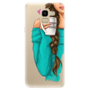 Silikonové odolné pouzdro iSaprio - My Coffe and Brunette Girl na mobil Samsung Galaxy J6