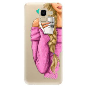 Silikonové odolné pouzdro iSaprio - My Coffe and Blond Girl na mobil Samsung Galaxy J6