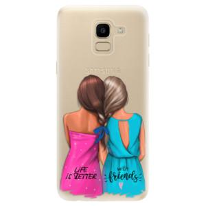 Silikonové odolné pouzdro iSaprio - Best Friends na mobil Samsung Galaxy J6