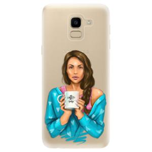 Silikonové odolné pouzdro iSaprio - Coffe Now - Brunette na mobil Samsung Galaxy J6