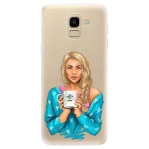 Silikonové odolné pouzdro iSaprio - Coffe Now - Blond na mobil Samsung Galaxy J6