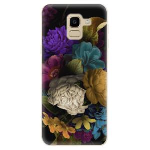 Silikonové odolné pouzdro iSaprio - Dark Flowers na mobil Samsung Galaxy J6