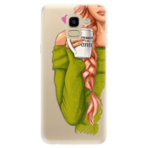 Silikonové odolné pouzdro iSaprio - My Coffe and Redhead Girl na mobil Samsung Galaxy J6