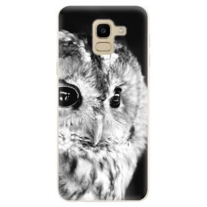 Silikonové odolné pouzdro iSaprio - BW Owl na mobil Samsung Galaxy J6