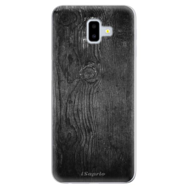 Silikonové odolné pouzdro iSaprio - Black Wood 13 na mobil Samsung Galaxy J6 Plus (Silikonový kryt, obal, pouzdro iSaprio - Black Wood 13 na mobilní telefon Samsung Galaxy J6 Plus)