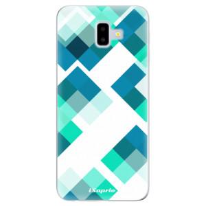 Silikonové odolné pouzdro iSaprio - Abstract Squares 11 na mobil Samsung Galaxy J6 Plus