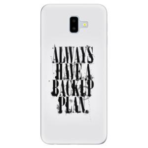 Silikonové odolné pouzdro iSaprio - Backup Plan na mobil Samsung Galaxy J6 Plus