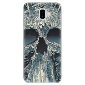 Silikonové odolné pouzdro iSaprio - Abstract Skull na mobil Samsung Galaxy J6 Plus