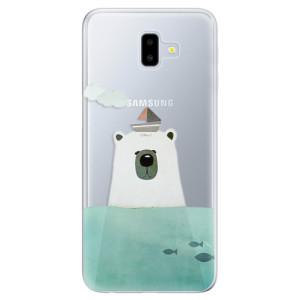 Silikonové odolné pouzdro iSaprio - Bear With Boat na mobil Samsung Galaxy J6 Plus