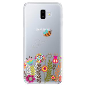 Silikonové odolné pouzdro iSaprio - Bee 01 na mobil Samsung Galaxy J6 Plus
