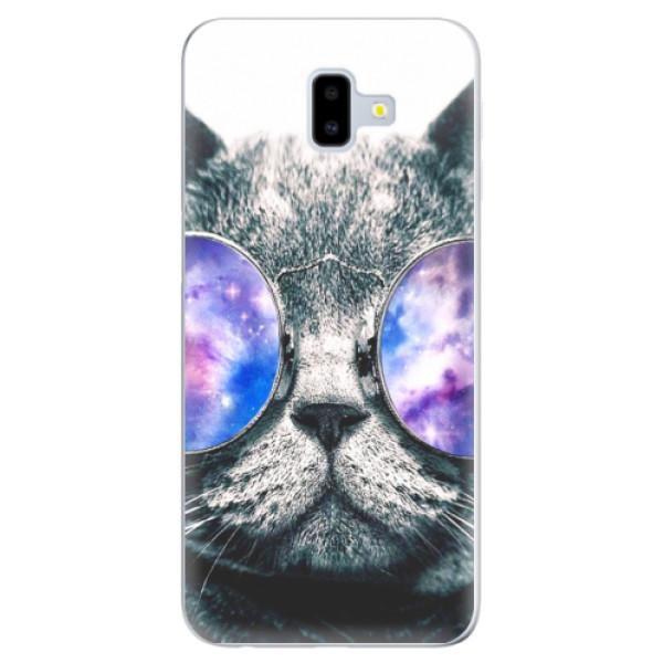 Silikonové odolné pouzdro iSaprio - Galaxy Cat na mobil Samsung Galaxy J6 Plus (Silikonový kryt, obal, pouzdro iSaprio - Galaxy Cat na mobilní telefon Samsung Galaxy J6 Plus)