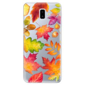 Silikonové odolné pouzdro iSaprio - Autumn Leaves 01 na mobil Samsung Galaxy J6 Plus