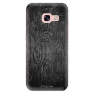 Silikonové odolné pouzdro iSaprio - Black Wood 13 na mobil Samsung Galaxy A3 2017