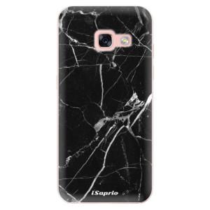 Silikonové odolné pouzdro iSaprio - Black Marble 18 na mobil Samsung Galaxy A3 2017