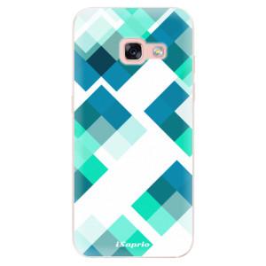 Silikonové odolné pouzdro iSaprio - Abstract Squares 11 na mobil Samsung Galaxy A3 2017