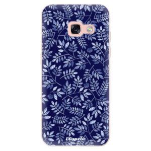 Silikonové odolné pouzdro iSaprio - Blue Leaves 05 na mobil Samsung Galaxy A3 2017