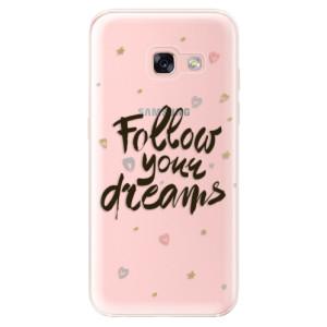 Silikonové odolné pouzdro iSaprio - Follow Your Dreams - black na mobil Samsung Galaxy A3 2017