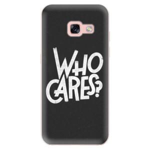 Silikonové odolné pouzdro iSaprio - Who Cares na mobil Samsung Galaxy A3 2017