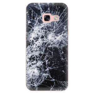 Silikonové odolné pouzdro iSaprio - Cracked na mobil Samsung Galaxy A3 2017