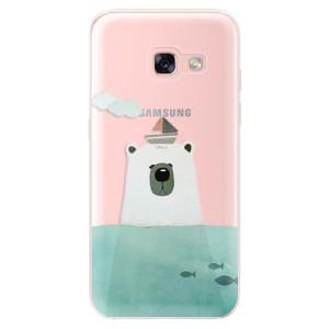 Silikonové odolné pouzdro iSaprio - Bear With Boat na mobil Samsung Galaxy A3 2017