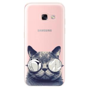 Silikonové odolné pouzdro iSaprio - Crazy Cat 01 na mobil Samsung Galaxy A3 2017