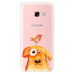 Silikonové odolné pouzdro iSaprio - Dog And Bird na mobil Samsung Galaxy A3 2017