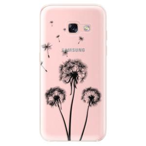 Silikonové odolné pouzdro iSaprio - Three Dandelions - black na mobil Samsung Galaxy A3 2017