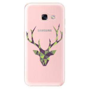 Silikonové odolné pouzdro iSaprio - Deer Green na mobil Samsung Galaxy A3 2017