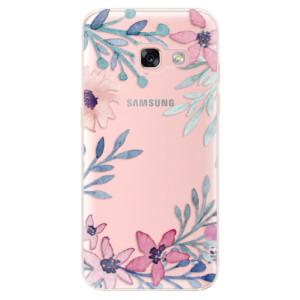 Silikonové odolné pouzdro iSaprio - Leaves and Flowers na mobil Samsung Galaxy A3 2017 - poslední kousek za tuto cenu