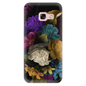 Silikonové odolné pouzdro iSaprio - Dark Flowers na mobil Samsung Galaxy A3 2017