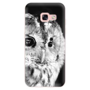 Silikonové odolné pouzdro iSaprio - BW Owl na mobil Samsung Galaxy A3 2017 - poslední kousek za tuto cenu