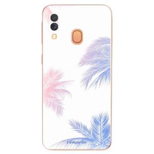 Silikonové odolné pouzdro iSaprio - Digital Palms 10 na mobil Samsung Galaxy A40