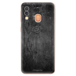 Silikonové odolné pouzdro iSaprio - Black Wood 13 na mobil Samsung Galaxy A40