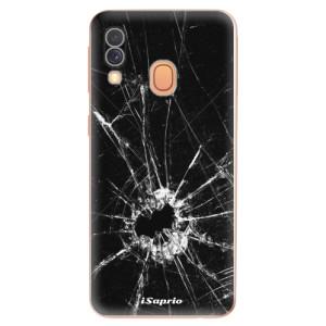 Silikonové odolné pouzdro iSaprio - Broken Glass 10 na mobil Samsung Galaxy A40