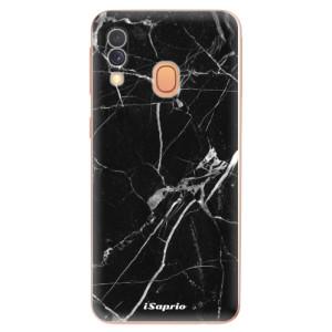 Silikonové odolné pouzdro iSaprio - Black Marble 18 na mobil Samsung Galaxy A40