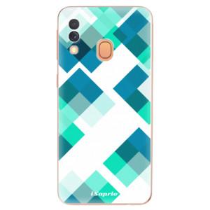 Silikonové odolné pouzdro iSaprio - Abstract Squares 11 na mobil Samsung Galaxy A40