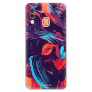 Silikonové odolné pouzdro iSaprio - Color Marble 19 na mobil Samsung Galaxy A40
