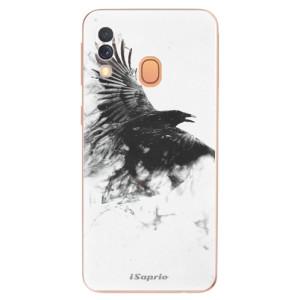 Silikonové odolné pouzdro iSaprio - Dark Bird 01 na mobil Samsung Galaxy A40