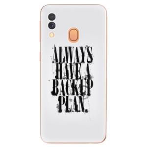 Silikonové odolné pouzdro iSaprio - Backup Plan na mobil Samsung Galaxy A40