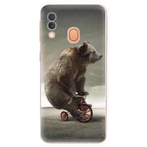 Silikonové odolné pouzdro iSaprio - Bear 01 na mobil Samsung Galaxy A40
