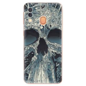 Silikonové odolné pouzdro iSaprio - Abstract Skull na mobil Samsung Galaxy A40