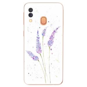 Silikonové odolné pouzdro iSaprio - Lavender na mobil Samsung Galaxy A40 - poslední kousek za tuto cenu
