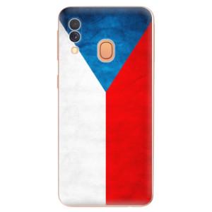Silikonové odolné pouzdro iSaprio - Czech Flag na mobil Samsung Galaxy A40