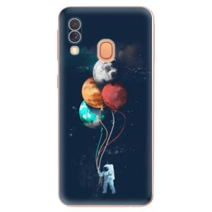 Silikonové odolné pouzdro iSaprio - Balloons 02 na mobil Samsung Galaxy A40