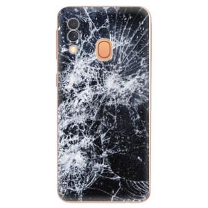 Silikonové odolné pouzdro iSaprio - Cracked na mobil Samsung Galaxy A40